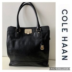 Cole Haan Executive Leather Bag Tote Black Leather